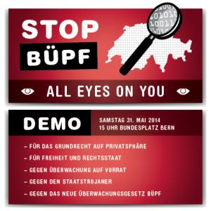 Stop Büpf Demo, 31.5 Bundesplatz Bern